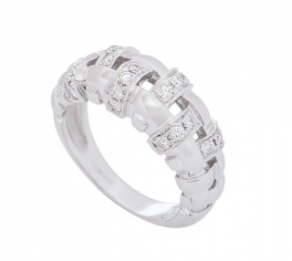 Tiffany & Co. White Gold Diamond Ring