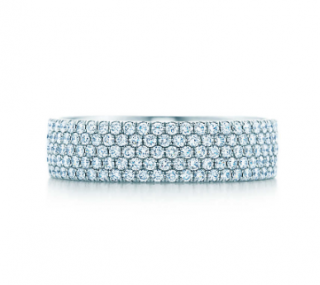 Tiffany & Co. Diamond 5 Row Ring