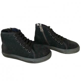 Anine Bing Suede Black Leather Trainers