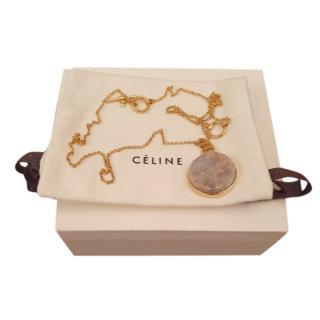 Celine Round Marble Pendant Necklace