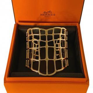 Hermes Yellow Gold Niloticus Ombre Bracelet - Large Model