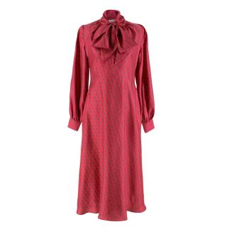 Lisou Penelope Star Print Silk Dress