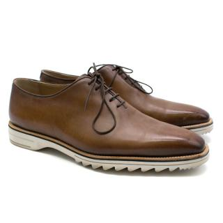 Berluti Antique Brown Fast Track Leather Lace-Ups