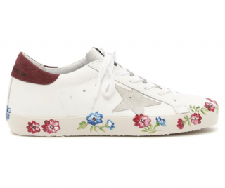 Golden Goose floral superstar sneakers