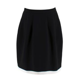 Raoul Black Knee Length Trapeze Skirt