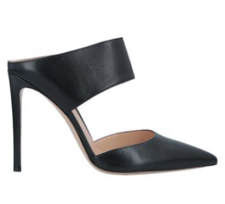 Gianvito Rossi Leather Open Toe Mules