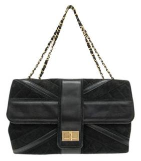 Chanel Suede & Leather Union Jack Mademoiselle Bag