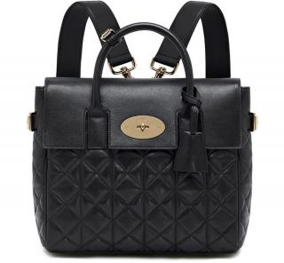 MUlberry Black Quilted Leather Cara Backpack