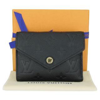 Louis Vuitton Black Empreinte Monogram Victorine Wallet