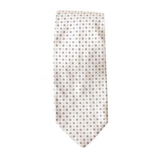 Boss Hugo Boss White Printed Silk Tie