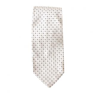 Boss Hugo Boss White Printed Silk Tie