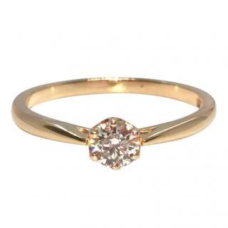 Cred Bespoke Rose Gold Diamond Solitaire Ring