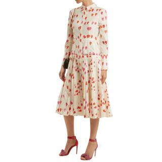 Alexander McQueen heart-print button-down dress - Current Season