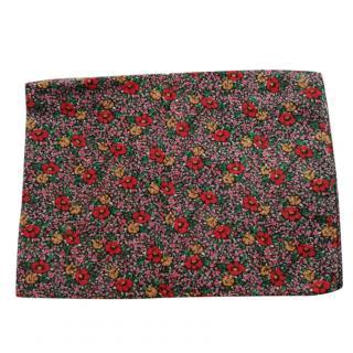 Saint Laurent Micro Floral Print Prairie Wool Scarf