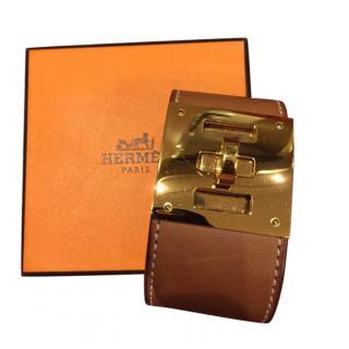 Hermes Gold Kelly Dog Bracelet GHW