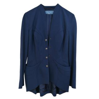 Thierry Mugler Blue Tailored Wool Jacket