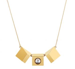 Rufier Topaz Icon Motion Pendant Necklace
