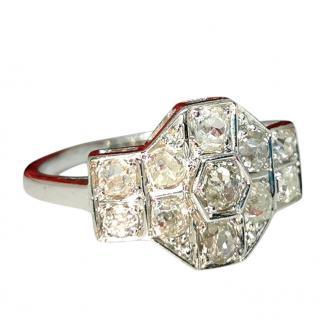 Bespoke 18ct white Gold Diamond Vintage Ring