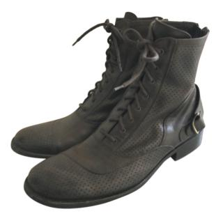 Belstaff Men's Perforated Lace-Up Boots