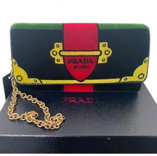 Prada Velvet Cahier Shoulder Bag
