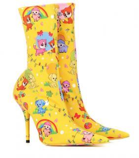 Balenciaga Knife cartoon ankle boots