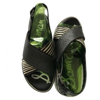Sam Edelman Leather & PVC Embellished Sandals