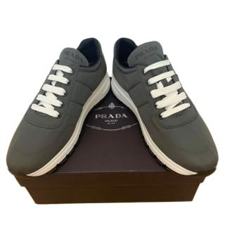 Prada Charcoal Lace-Up Sneakers