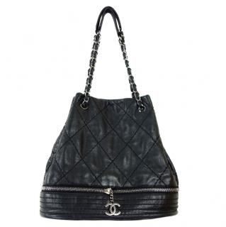 Chanel Diamond Stitch Leather Bucket Bag
