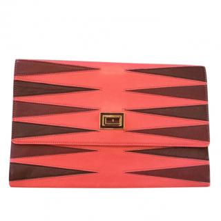 Anya Hindmarch Two-Tone Valorie Clutch