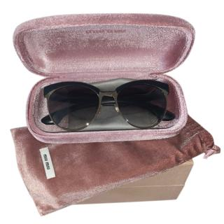 Miu Miu Crystal Embellished Sunglasses