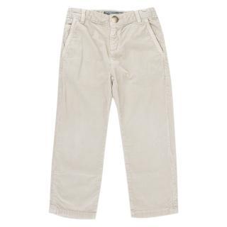 Bonpoint Beige Corduroy Trousers