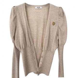 Moschino beige Knit Cardigan