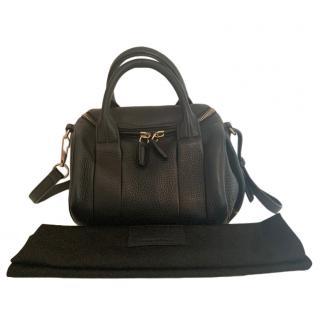 Alexander Wang Black Pebbled Calfskin Rockie Bag