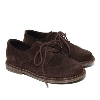 Papouelli Brown Suede Arthur Brogues