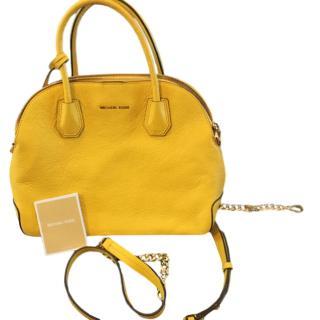 Michael Michael Kors Yellow Leather Crossbody Bag