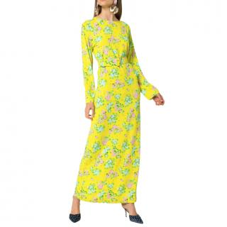 Bernadette Yellow Monica Floral Print Maxi Dress