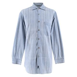 Ermenegildo Zenga Sport Blue Striped Shirt