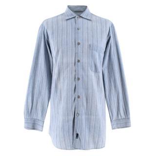 Ermenegildo Zenga Sport Blue Striped Shirt