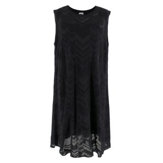 M Missoni Black Sleeveless Round Neck Dress