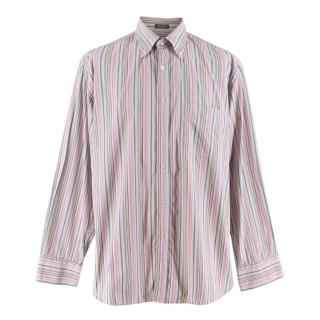 Salvatore Ferragamo Mens Striped Shirt