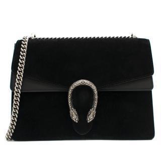 Gucci Black Suede Medium Dionysus Shoulder Bag