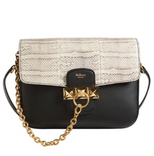Mulberry Keeley Silk Calfskin & Ayers Snakeskin Crossbody Bag
