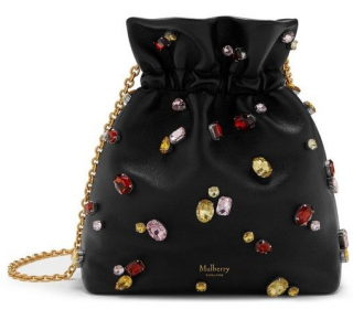 Mulberry Black Lynton Embellished Mini Bucket Bag