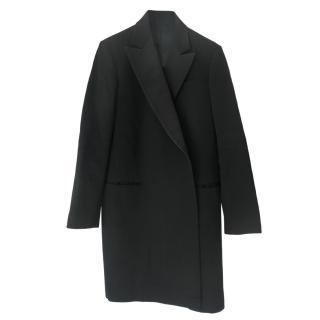 Celine Black Tailored Longline Wool Coat