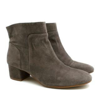 Vince Camuto Grey Suede Ankle Boots