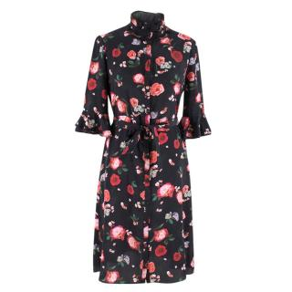 Beulah Maia Floral-print Silk Dress