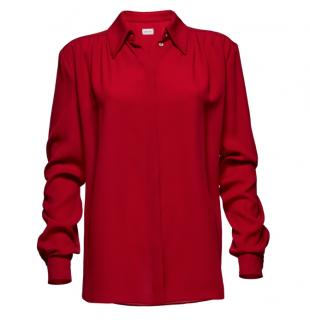 Magda Butrym red huelva shirt