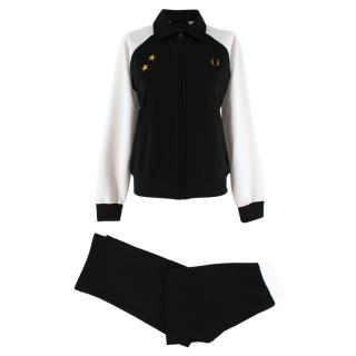 Bella Freud X Fred Perry Black Block Tricot Tracksuit