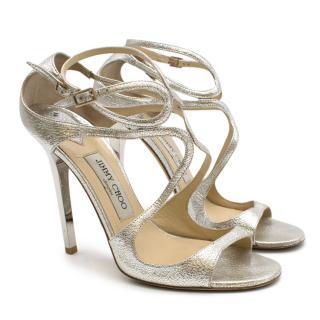 Jimmy Choo Lance 115 Metallic Heeled Sandals