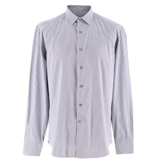 Lanvin blue, white & grey striped mens shirt